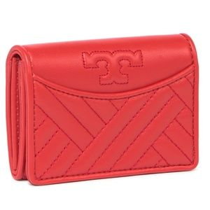 NWT~TORY BURCH~Alexa Foldable Leather Wallet